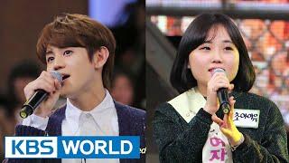 "[Short Clip] YoSeob(BEAST) sings duet with tone-deaf girl on ""Yu JaeSeok's I'm a Man"""