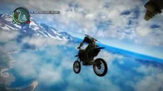 getlinkyoutube.com-Just Cause 2 - Random Vehicles Behind Planes - Motorcycle
