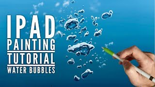 getlinkyoutube.com-Apple Pencil drawing - HOW TO DRAW UNDERWATER BUBBLES - iPad pro art tutorial in Procreate