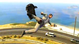 getlinkyoutube.com-GTA V Unbelievable Crashes/Falls - Episode 07