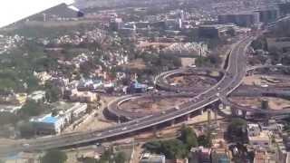 getlinkyoutube.com-Flight Landing to Chennai Airport