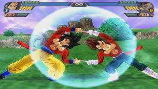 getlinkyoutube.com-Goku SSJ4 And  Vegeta SSJ4 Fusion (Danza)   New Gogeta SSJ4   DBZ Tenkaichi 3 (MOD)