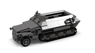 getlinkyoutube.com-Lego WWII SdKfz-251 German Halftrack Instructions