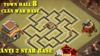 getlinkyoutube.com-Anti 2 star | Diseño de TH 8 | Clan War base #4