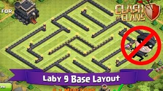 getlinkyoutube.com-Clash Of Clans: TH9 | BEST Farming Base Layout - Laby 9