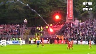 getlinkyoutube.com-FC Erzgebirge Aue 1:0 FSV Zwickau 10.05.2016 | Pyro & Ausschreitungen