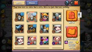 getlinkyoutube.com-Clash of Lords 2 - Lords Gone Wild Awesome Rewards 10x Hires Spending Jewels