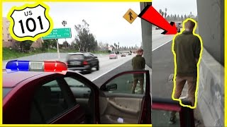 DARED TO PEE ON A HIGHWAY
