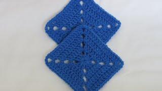 getlinkyoutube.com-Granny Square Crochet 4 | كروشيه مربع