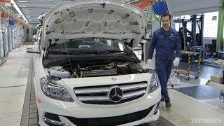 getlinkyoutube.com-Mercedes-Benz B-Class Electric Drive Production