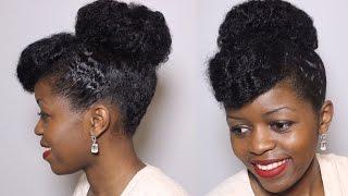getlinkyoutube.com-Chic Easy Bun Updo | Natural Hair | Wedding Style | MissT1806