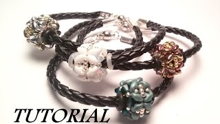 getlinkyoutube.com-TUTORIAL bracciale con PANDORA di Superduo e Swarovski | Beaded bead bracelet TUTORIAL