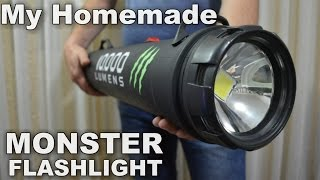 getlinkyoutube.com-Monster 10,000 Lumens 1000w equiv.LED Flashlight