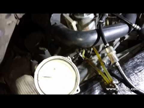Проверка давления шестерёнчатой подкачки на двигателях Mercedes 2.1 (ОМ 646)