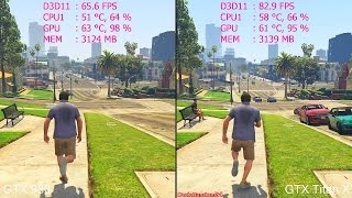 getlinkyoutube.com-GTA 5 Pc GTX Titan X Vs GTX 980 Frame Rate Comparison