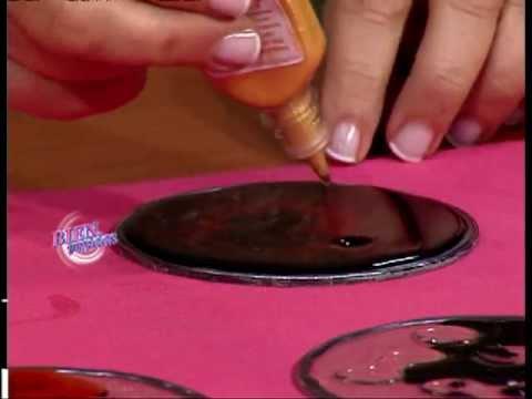 Mónica Godfroit - Bienvenidas TV - Pintura de móviles con lacas vitrales