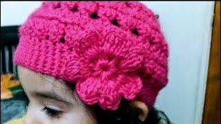 getlinkyoutube.com-Como tejer Gorro en crochet para niñas👭
