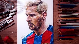 getlinkyoutube.com-Drawing Lionel Messi | drawholic