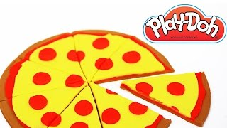 getlinkyoutube.com-Play Doh Pizza, How To Make Play Doh Food, Plastilina, Pongo