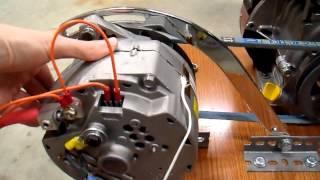 getlinkyoutube.com-DIY 12V Generator Charger - 7 Belt Drive Update