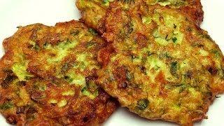 getlinkyoutube.com-Fried Zucchini Cakes Recipe (With Feta Cheese)