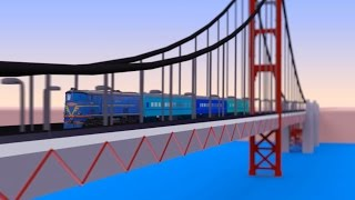 getlinkyoutube.com-VIDS for KIDS in 3d (HD) - Trains for Children and Bridges - AApV