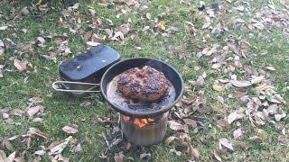getlinkyoutube.com-ソロストーブ(solo stove)でハンバーグ