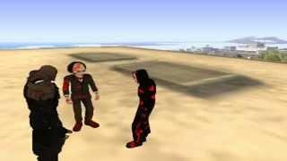 getlinkyoutube.com-Loquendo Gta san andreas - Goku vs Scream,Nemesis,Saw Parte 5