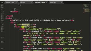 getlinkyoutube.com-Update Data into MySQL Database using jQuery + AJAX + PHP