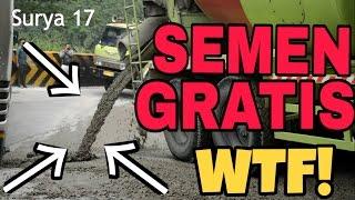 getlinkyoutube.com-Jalan Sitinjau Lauik ke Siram Semen bikin Slip Truk