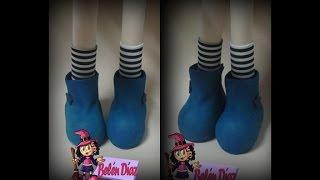 getlinkyoutube.com-Tutorial Zapatos Fofucha estilo Gorjuss parte 1