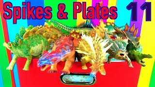 getlinkyoutube.com-DINOSAUR Box 11 TOY COLLECTION - SPIKED & PLATED DINOSAURS Unboxing Toy Review SuperFunReviews