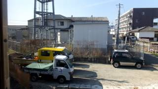 getlinkyoutube.com-熊本電気鉄道6000形 側面展望 北熊本→藤崎宮前(藤崎線普通) 6221ef編成