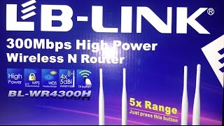 getlinkyoutube.com-LB-Link BL-WR4300H WIRELESS ROUTER - Unboxing