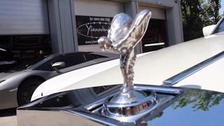 getlinkyoutube.com-Rolls Royce phantom Limousine Gets Wrapped in Pearl White