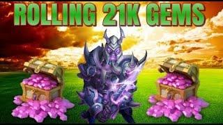 getlinkyoutube.com-Castle Clash Rolling 21k Gems and 24 Chests!