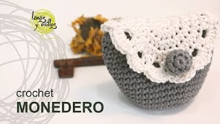 getlinkyoutube.com-Tutorial Monedero Crochet o Ganchillo