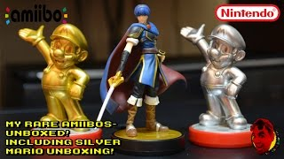 getlinkyoutube.com-{RARE AMIIBO UNBOXING} Marth and Golden Mario  Including Silver Mario Unboxing!!!