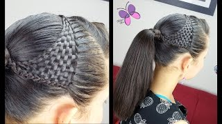 getlinkyoutube.com-Nudo Chino y Esterillado o Tejido Canasta - Basquet Weave | Peinados para Niñas | Trenzas y Peinados