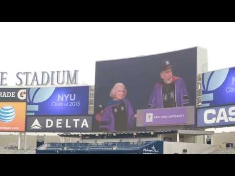 NYU Commencement 2013 - Presentation of Presidential Medal