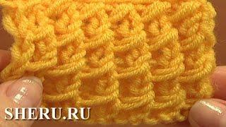 getlinkyoutube.com-Knitting Stitch Pattern For Beginners Урок 3 Узор чешуйки