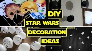 getlinkyoutube.com-DIY STAR WARS DECORATIONS ❤ STAR WARS PARTY!