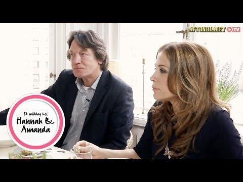 Tilde de Paula och Johannes Brost i På middag hos Hannah & Amanda