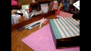 getlinkyoutube.com-Tutorial for mini album with new binding plus cards & envelopes - Scrapbooking