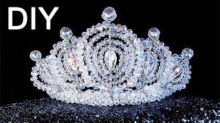 getlinkyoutube.com-DIY: handmade beaded 👑 Crown / Корона из бисера своими руками
