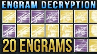 getlinkyoutube.com-Destiny Engram Opening 20 Engrams [12 Exotic Engrams and 8 Legendary Engrams]