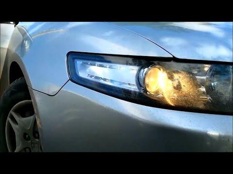 Замена ламп передних габаритных огней на Хонда Аккорд 7