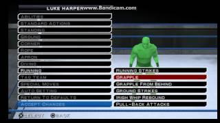 WWE SVR 11 PSP Luke Harper Moveset