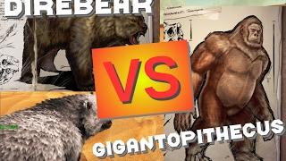 getlinkyoutube.com-Direbear vs Gigantopithecus || ARK Battle by CantexYT