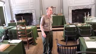 Independence Hall (Assembly Room) - Park Ranger Presentation - East Coast Trip Vista Heights Middle